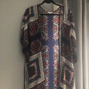 Kimono red and blue